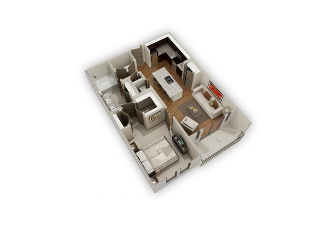 The Dylan - A6 floor plan.