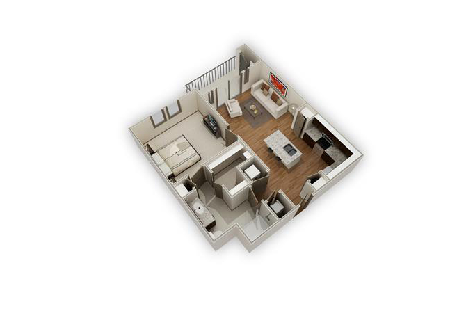 The Everleigh - A7 floor plan.