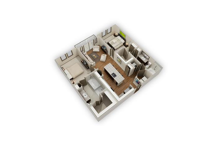 The Post Oak - B3a floor plan.