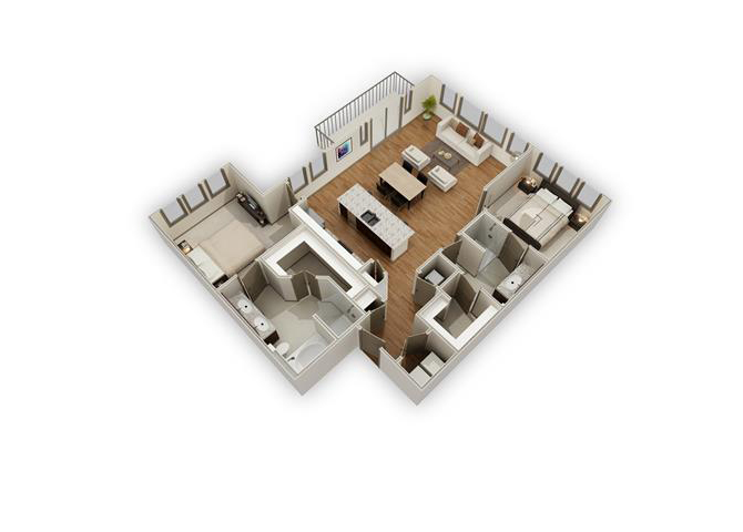 The Sanctuary - B4 floor plan.