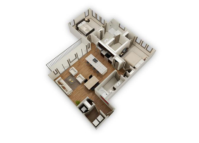 The Sloane - B6 floor plan.