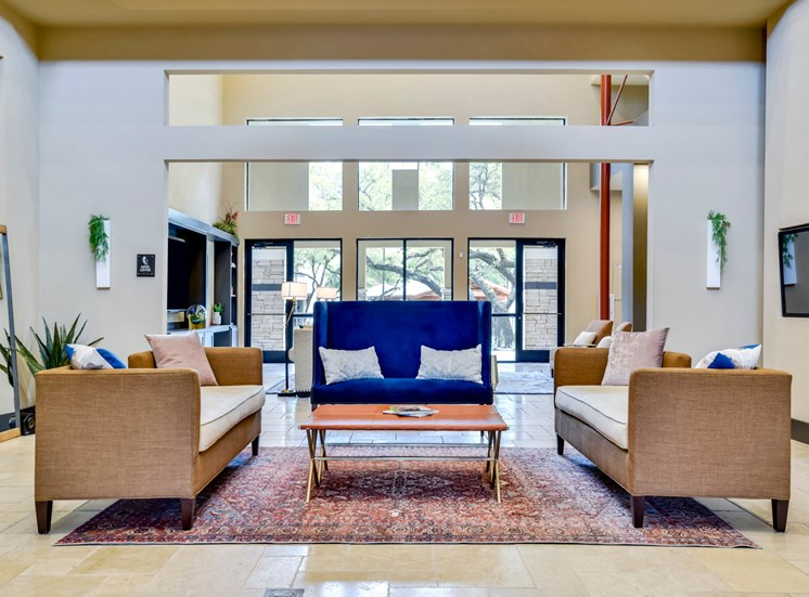 Leasing office lobby and sitting area