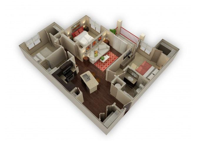 The Legend floor plan.