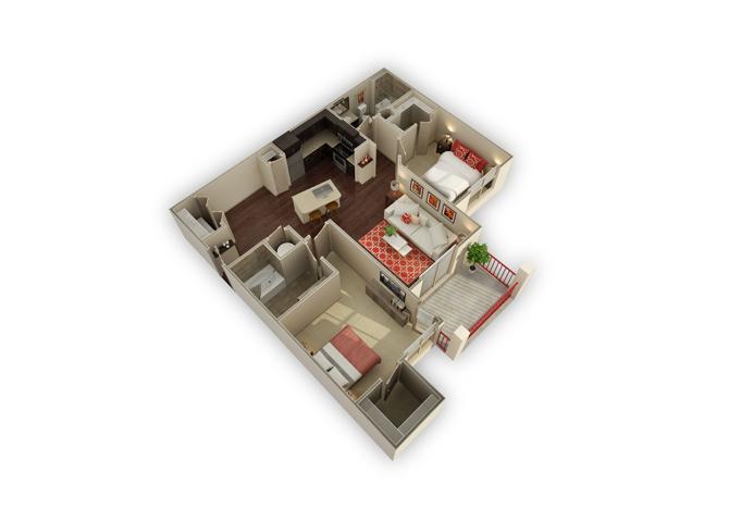 The Wimberley floor plan.