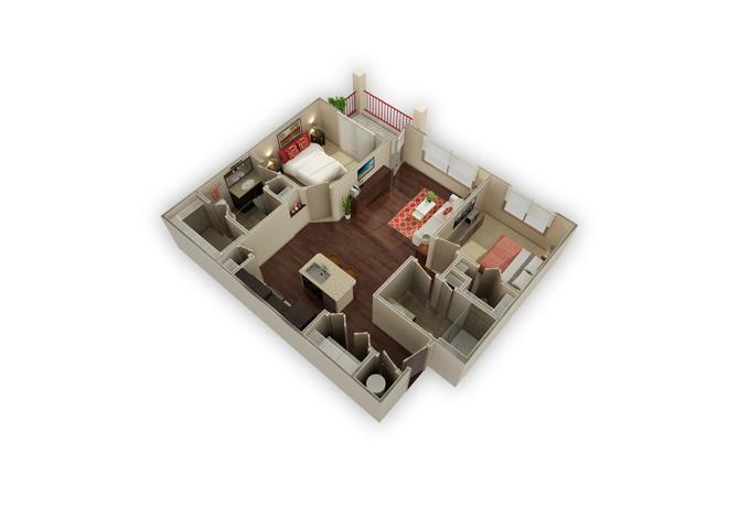 Zilker floor plan.