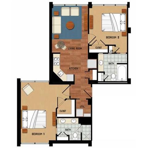 Caloosahatchee Floorplan Campo Felice – Active 55+ Resort Style Rental Community, Fort Myers, FL