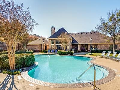 Resort-Style Pool at Lost Spurs Ranch in Roanoke, Texas
