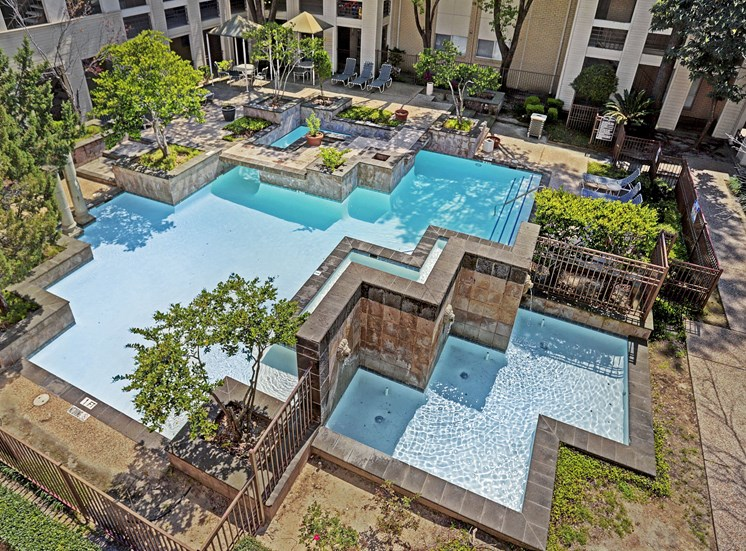 Community Resort-Style Pool at The Village at Bunker Hill in Houston, Texas
