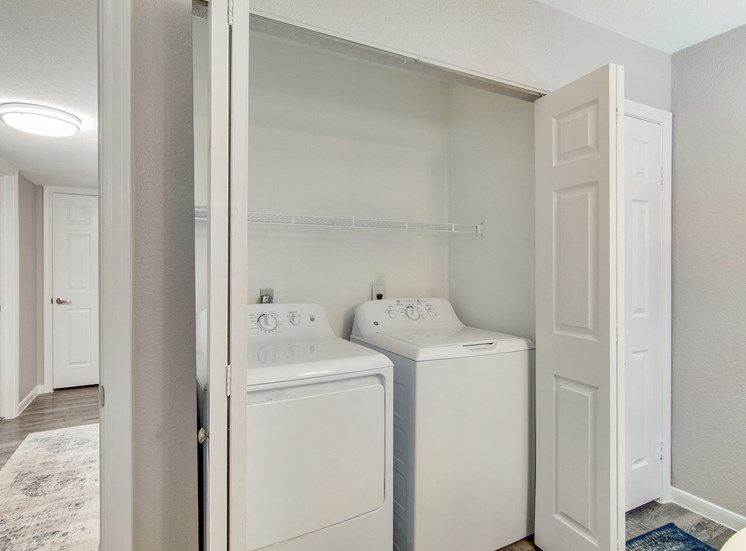 Washer and Dryer in each unit at The Village at Bunker Hill in Houston, Texas