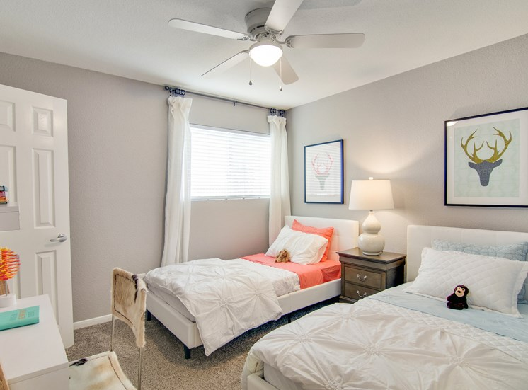 Spacious Bedroom With Carpeting at The Village at Bunker Hill in Houston, Texas