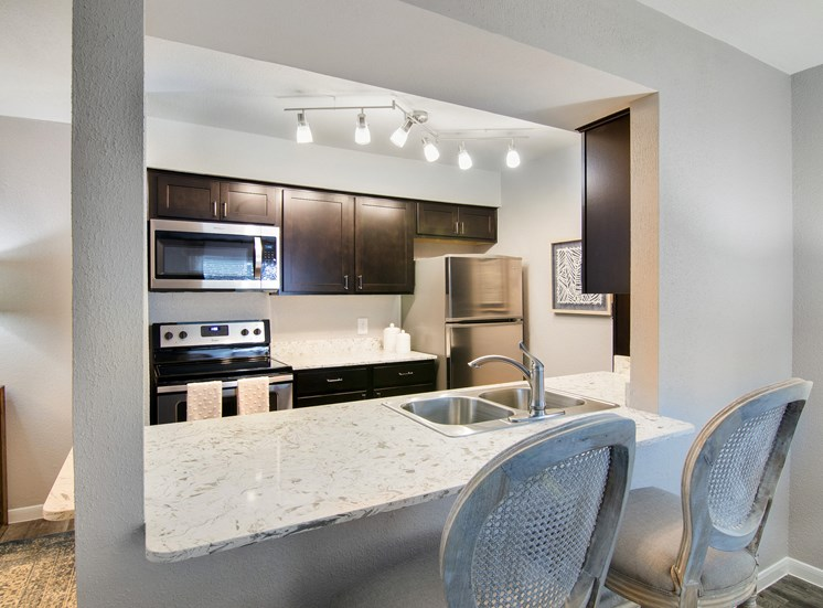 Quartz Countertops at The Village at Bunker Hill in Houston, Texas