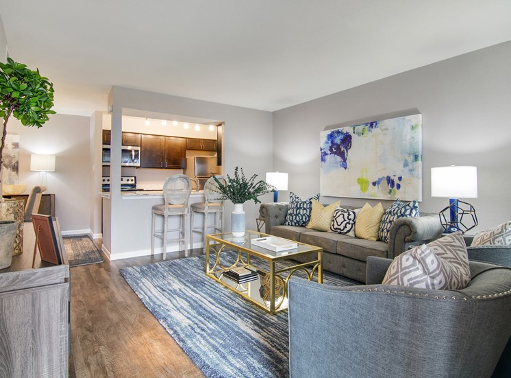 Spacious Living Room Interior Design at The Village at Bunker Hill in Houston, Texas