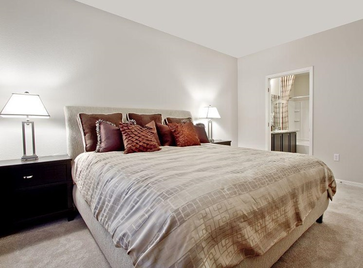 Beige Carpet in Bedroom at South Blvd, Las Vegas