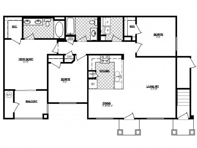 Floorplan at South Blvd, Las Vegas, NV