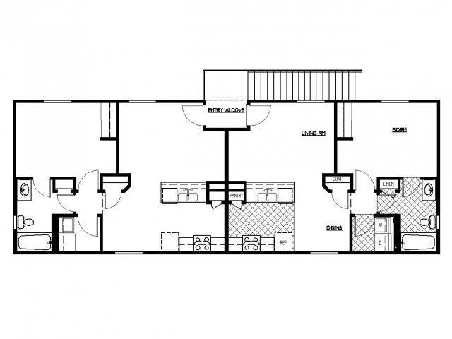 Floorplan at South Blvd, Las Vegas, Nevada