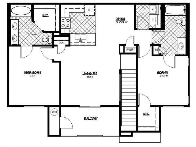 Floorplan at South Blvd, Las Vegas, NV 89183