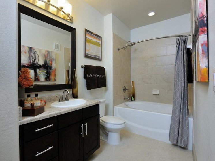 Custom Vanity Lighting at Broadstone Park West Apartments, Texas, 77084