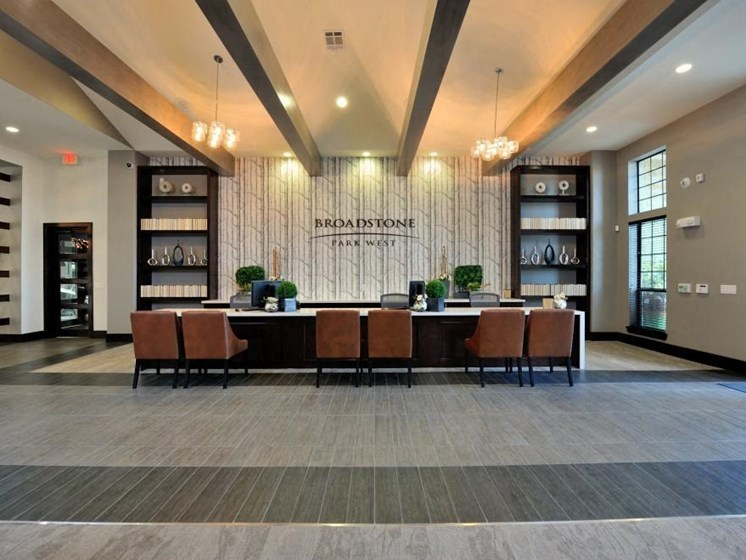 Resident Lounge at Broadstone Park West Apartments, Houston, TX 77084