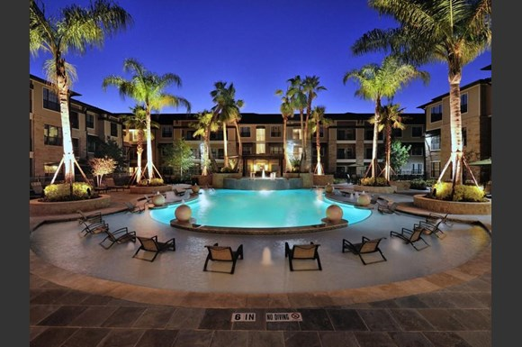Poolside Lounge At Broadstone Park West Apartments Houston Tx