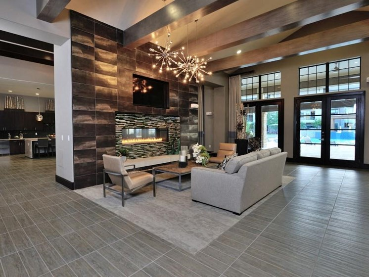 Social Lounge with Latte Bar at Broadstone Park West Apartments, Houston, Texas