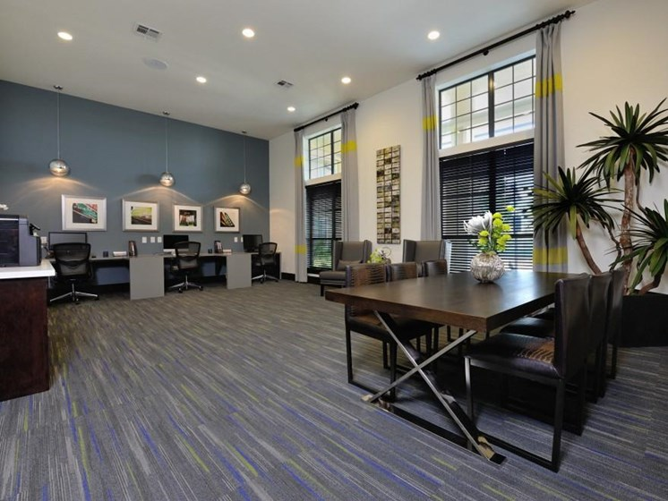 Modern Business Center with Wi-Fi at Broadstone Park West Apartments, Texas