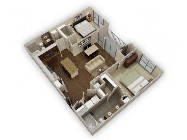 FloorPlan at Broadstone Park West Apartments, Texas, 77084
