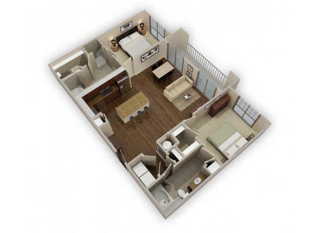 FloorPlan at Broadstone Park West Apartments, Houston, TX 77084