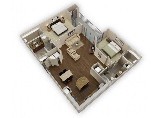 FloorPlan at Broadstone Park West Apartments, Houston, 77084