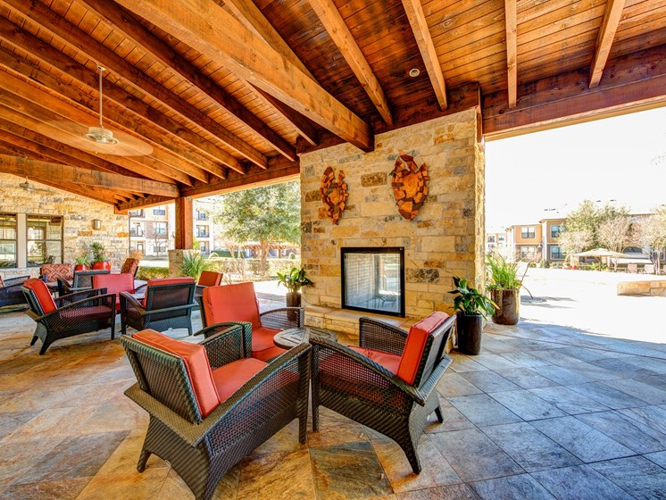 Covered Patio at Broadstone Travesia, Austin, Texas