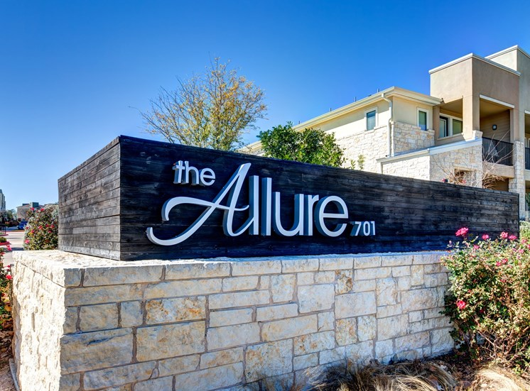 Welcome Sign at The Allure, Cedar Park, TX