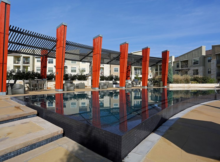 Resort Style Pool with Sun Pavilion at The Allure, Cedar Park, 78613