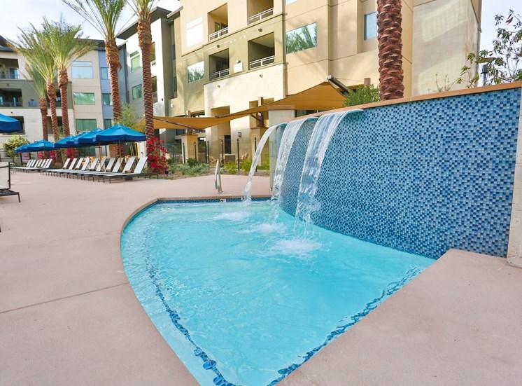 Resort Style Pool and Spa at Fashion Center, Chandler, Arizona
