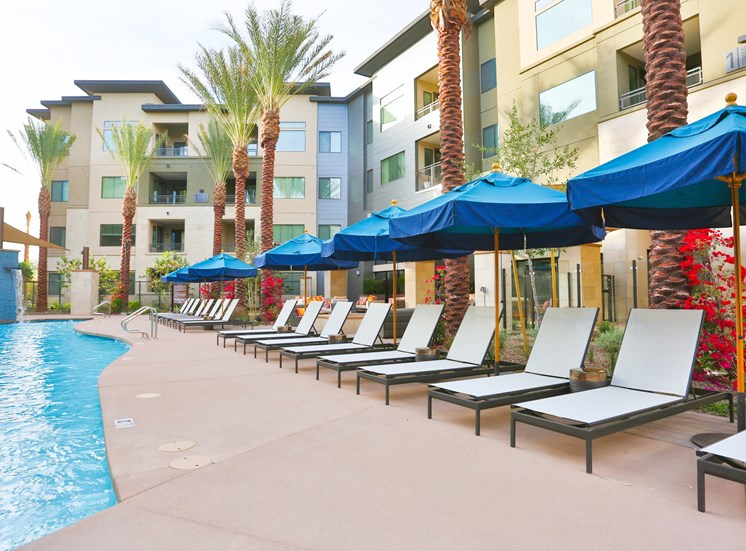 Comfy Chairs by Pool at Fashion Center, Chandler