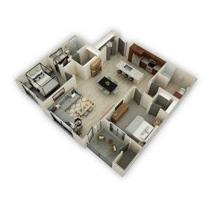 Floor plan at Fashion Center, Arizona, 85226