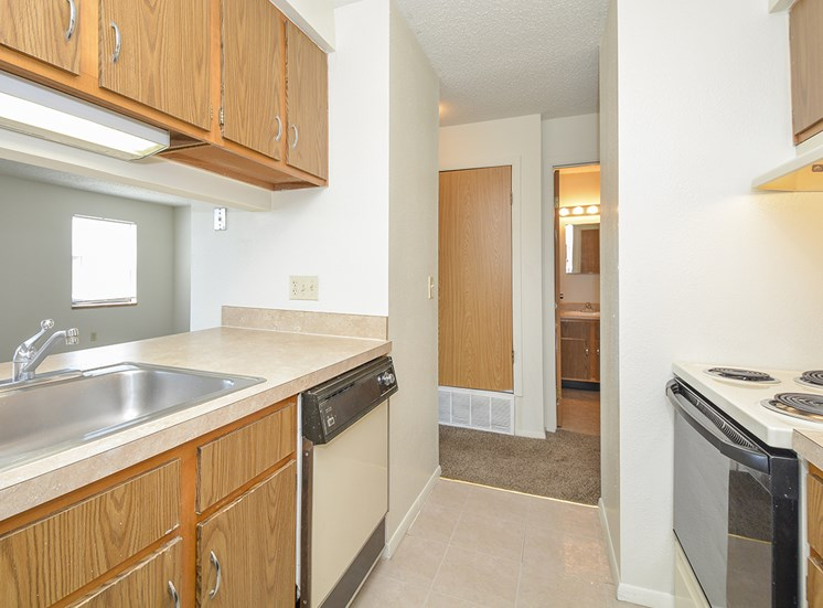 Entryway of Apartment Kitchen