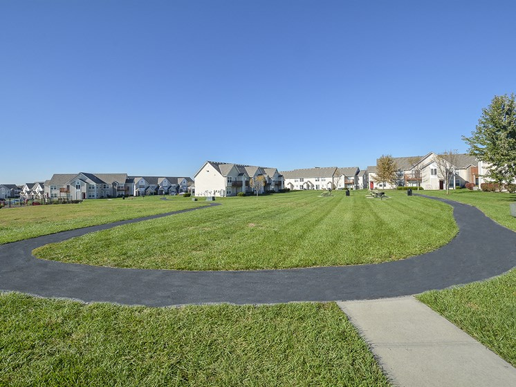 Paved Walking Paths Through Community