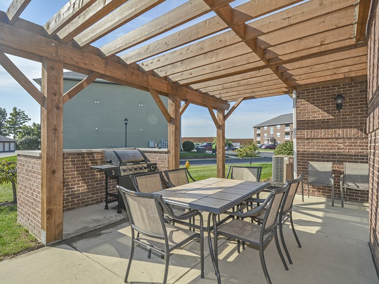 Outdoor Grilling Area with Pergola