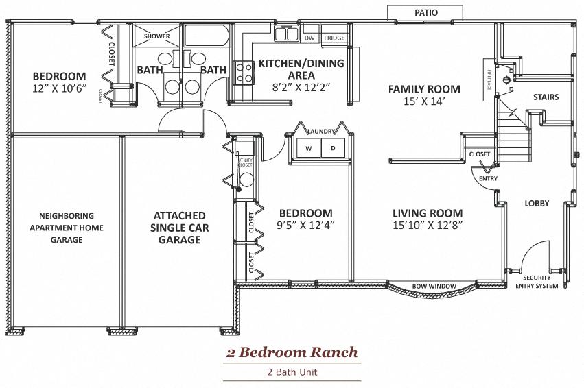 2nd Floor 2 Bedroom Apartment Floor Plan