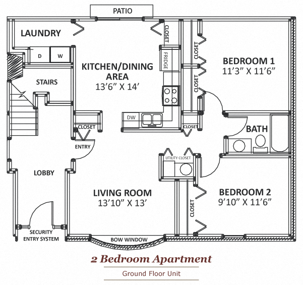 Floor Plans Of Maple Lane Apartments In Elkhart, IN