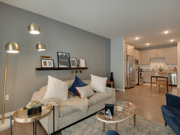 Trendy Living Room at TRIO @ southbridge, Minnesota