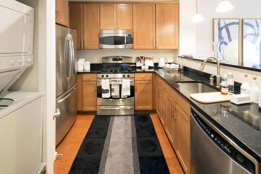 Plenty of counter space at Dwell Vienna Metro Apartments in Fairfax, VA