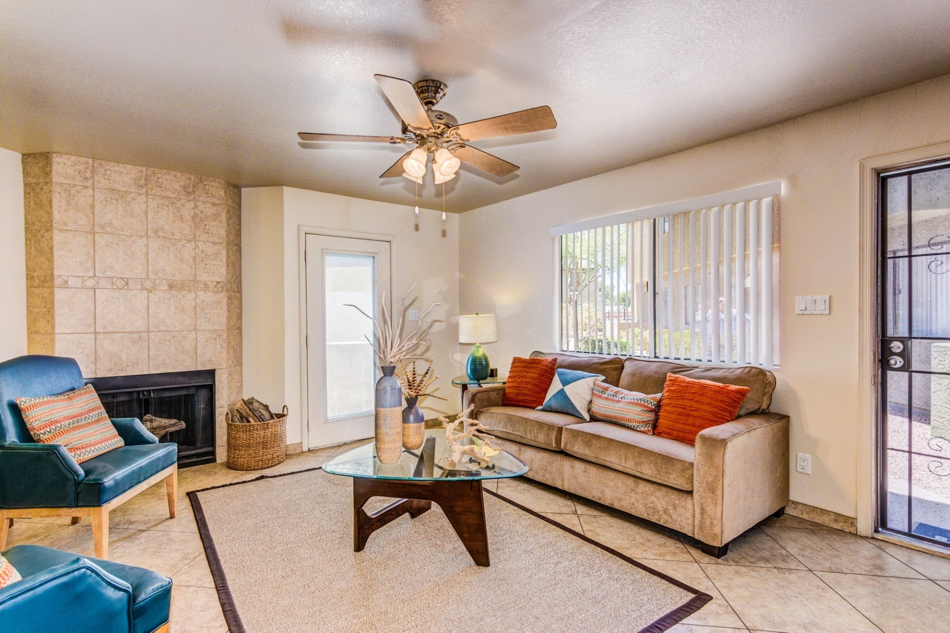 Living Room at Riverview Park Apartments in Mesa, AZ