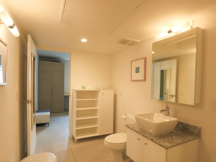 Bathroom (Furnished 1 Bedroom) at The Regency Apartments in Tempe, AZ