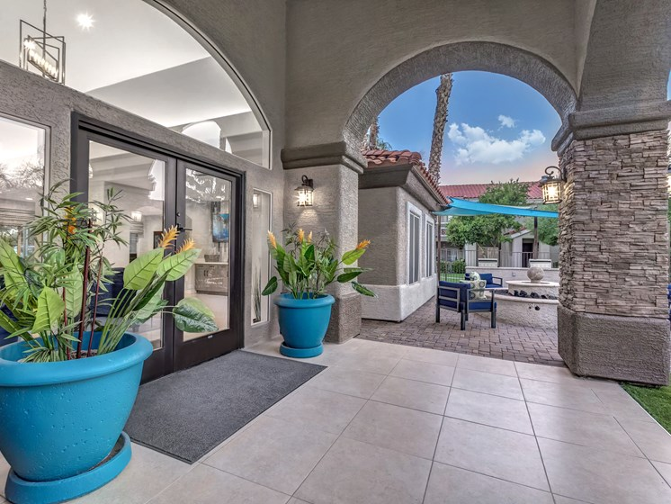 Leasing Office Entrance at The Springs at Continental Ranch in Tucson, AZ