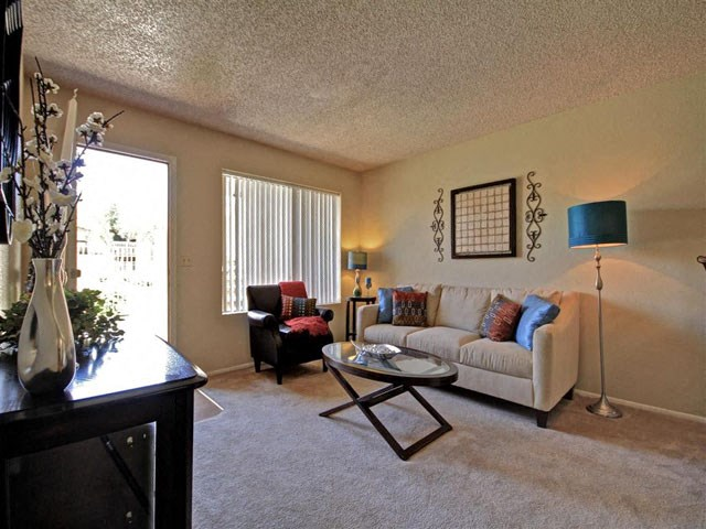 living room at Acacia pointe apartments in glendale az
