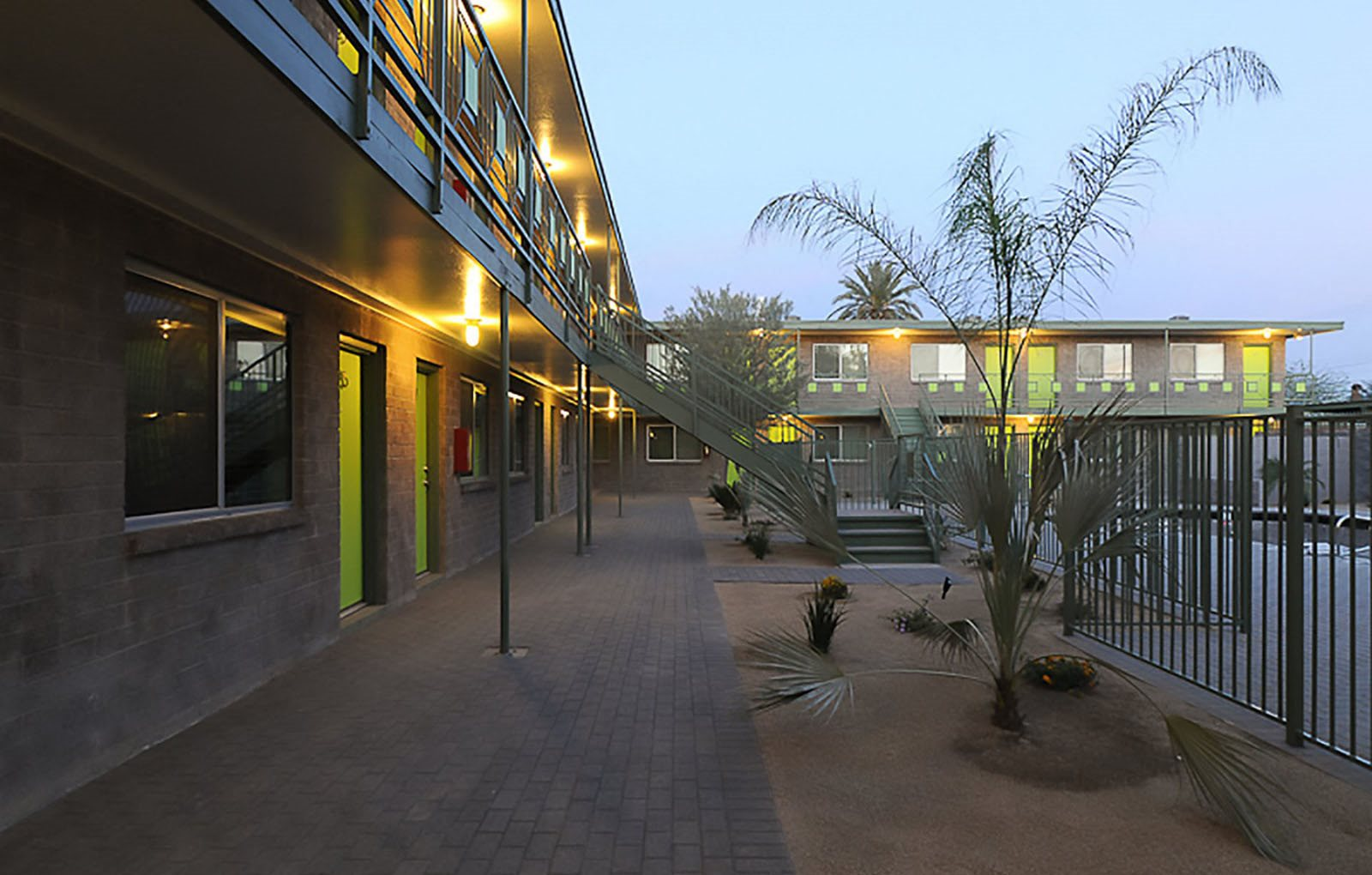 Exterior and landscaping at Carol Mary Apartments in Phoenix, AZ