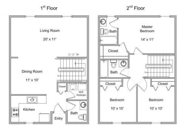 3-Bed Townhome Floor Plan 4