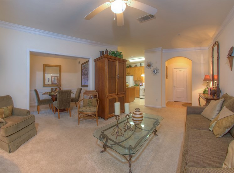 Luxury Apartments in Lithonia| Wesley Stonecrest Apartments | Ceiling Fans and Arched Entry Ways
