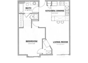 1 Bedroom / 1 Bathroom Corporate