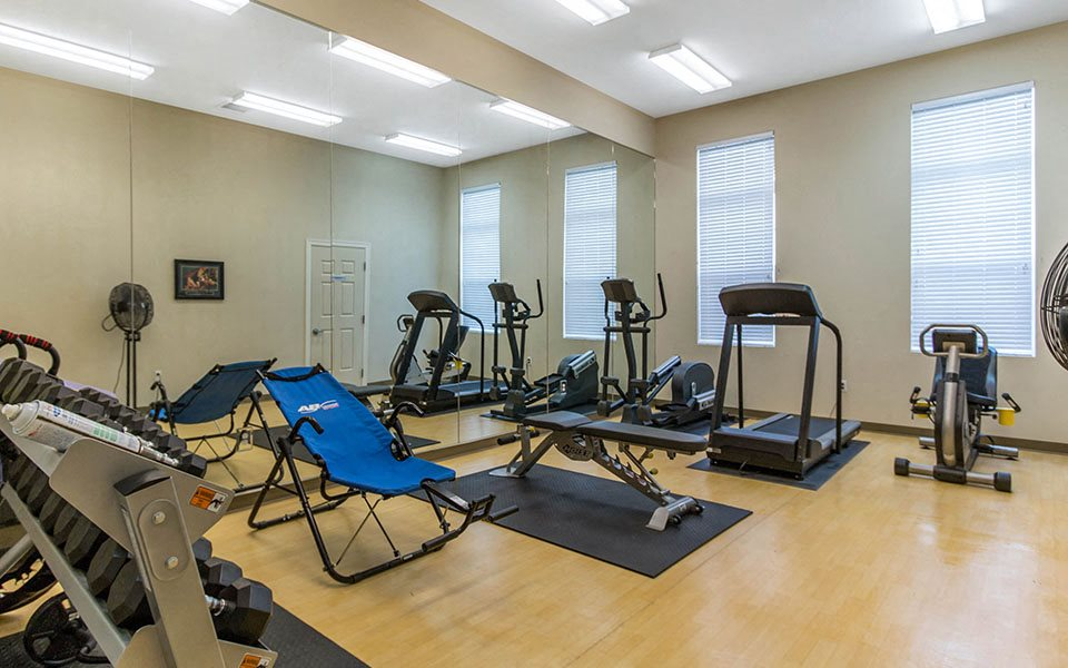Fitness center at Altus AFB Homes